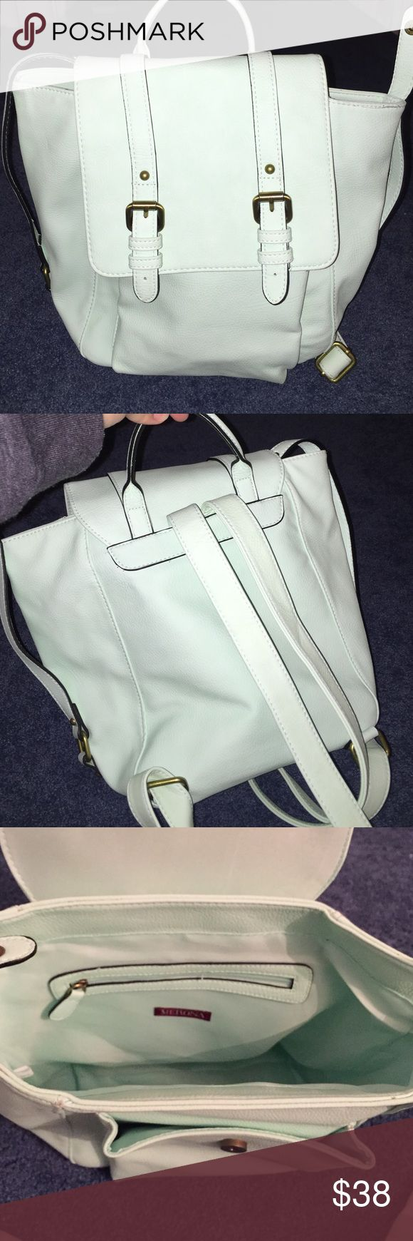 Mint green backpack ♦️Love this bag but it doesn't fit my books :( 📚 used only a couple times excellent condition. ♦️Has adjustable straps! Since the condition is so good and I rarely used it I'm selling it for closer to the price I payed for however ♦️I accept reasonable offers Merona Bags Backpacks