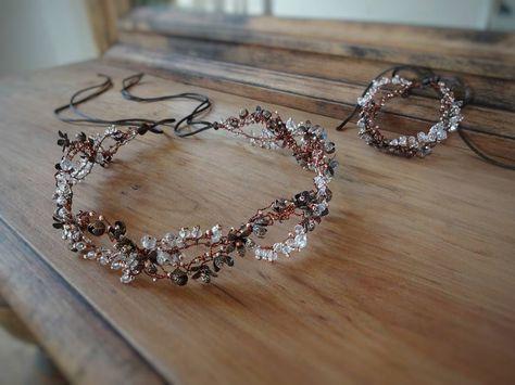 Rustic jewelry set for bride #wedding #weddingjewelry #weddingheadpiece #weddingtiara #weddingaccessories #bridal #bridaljewelry #bridalaccessories #bridalheadpiece #hairhalo #latviandesign #tiaras #weddingjewelrysets #bridalbracelet #weddingbracelet #rusticwedding #rustic #vintage #vintagewedding #vintageweddingjewelry #boho #bohowedding #bracelet #flowerjewelry #hairvine #hairdiadem #diadem #crown #weddingcrown