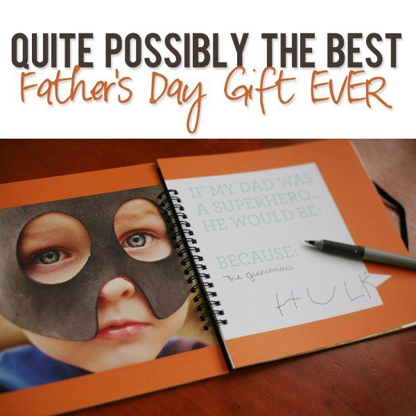 Best Father's Day Gift EVER. Another super cute Father's Book idea!