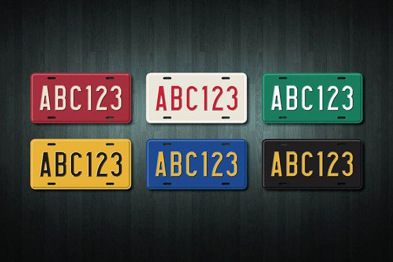 This listing is for one brand new custom made Mini USA Style License Plate adhesive vinyl sticker/decal, with the name of your choice (up to 10 letters or numbers), created by Doozi.