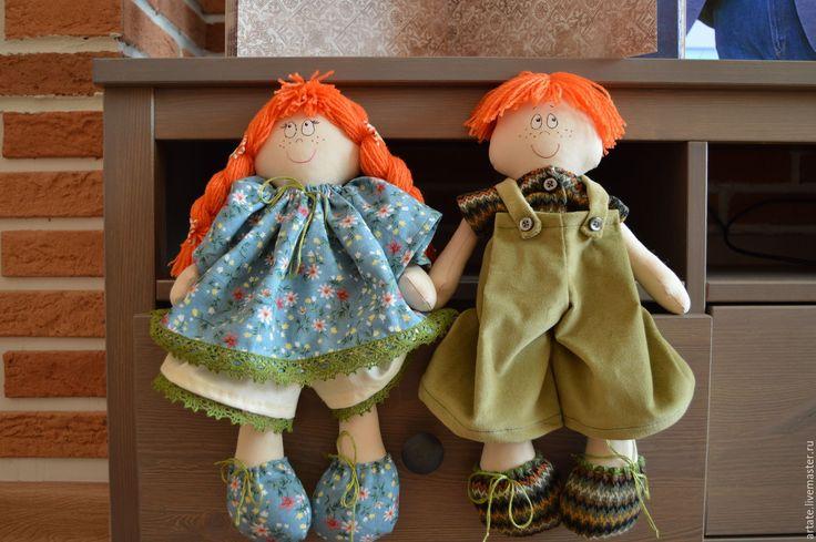Купить Рыжие Манька и Ванька. Игровые куклы - бежевый, игровая кукла, игровая игрушка, манька