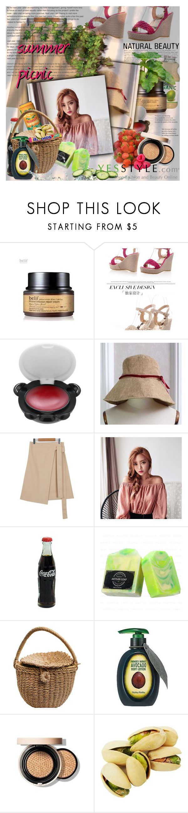 """Share your summer picnic outfit and WIN US$40 store coupons!"" by astromeria ❤ liked on Polyvore featuring Tony Moly, Chlo.D.Manon, Goroke and Holika Holika"