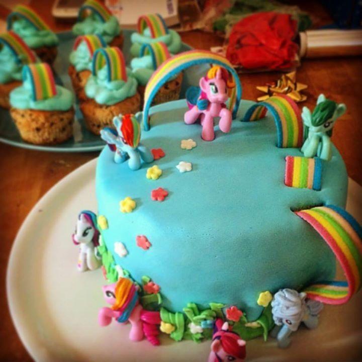 Homemade LittlePony's birthday cake