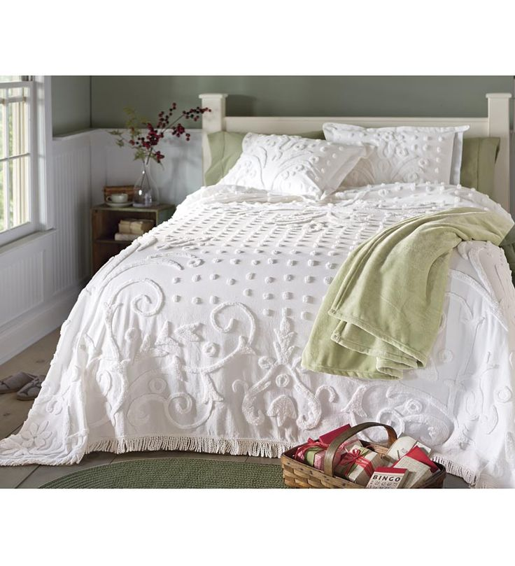Crystal Chenille Cotton King Bedspread