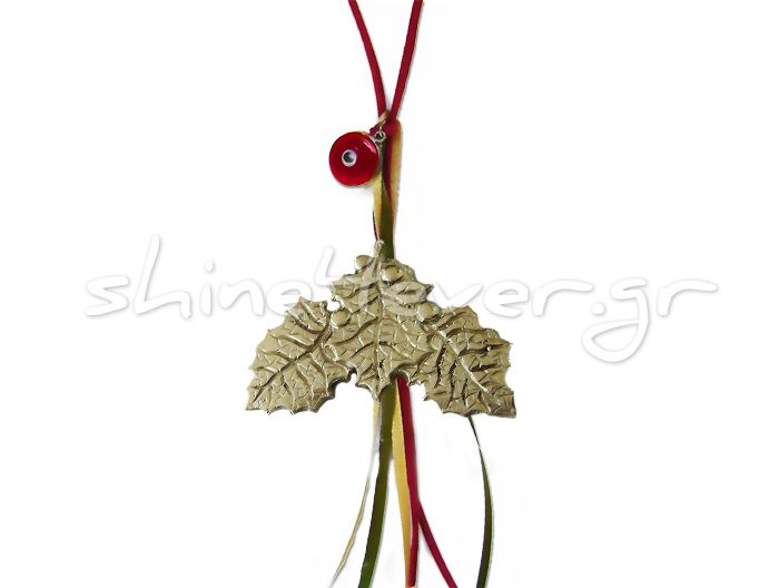 "A mistletoe ornament, ""coated"" in gold!!! A ""shiny"" ornament for your christmas tree and a sparkling touch for your home!!"
