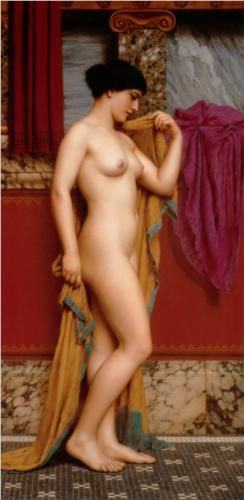 In the Tepidarium - John William Godward