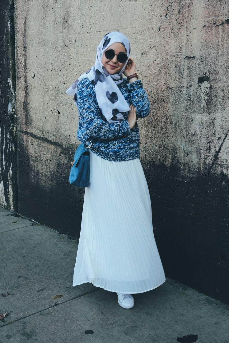knit sweaters and maxi skirt, spring hijab look, hijab fashion, hijab street style, hijab style, hijab tutorial, chill hijab look, casual hijab look