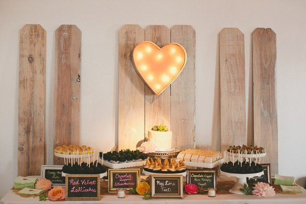 Loving this rustic and sweet dessert display {Kimberly Conners Events}