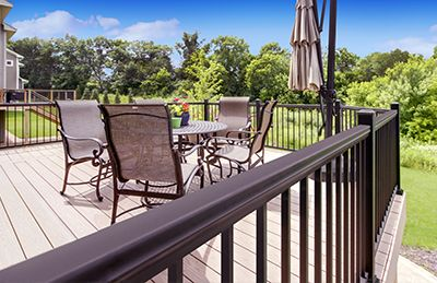 Williams Architectural Products  are available at Menards.  Williams Architectural Products - Minnesota Metal Railing manufactures premium Powder-Coated Aluminum Railing and glass railing systems for decks, patios and swimming pools with low-maintenance living in mind. Our dedication to research and development ensures a uniquely engineered railing system which meets commercial/residential building codes.