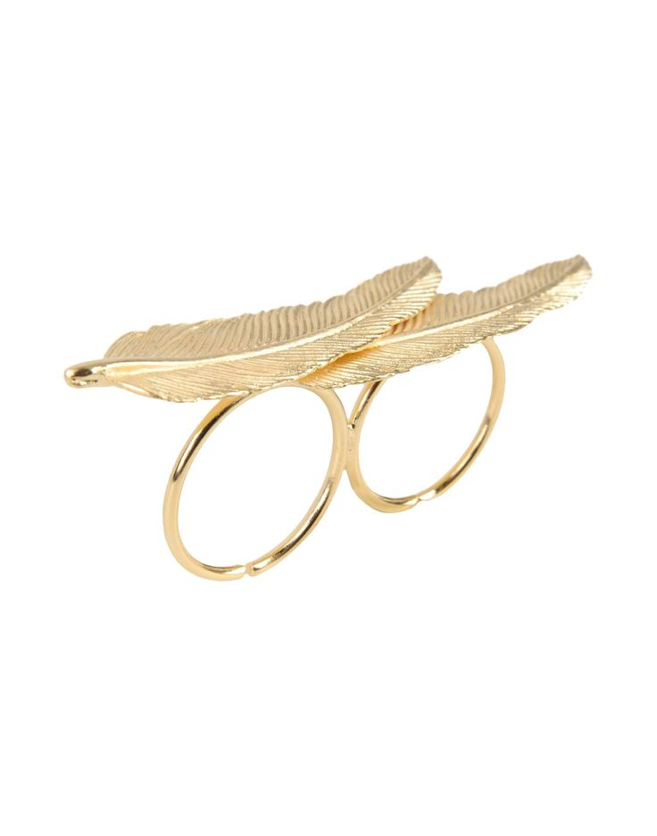 First People First Anello Doppia Piuma - Ring - Women First People First Rings online on YOOX United States - 50183426QH