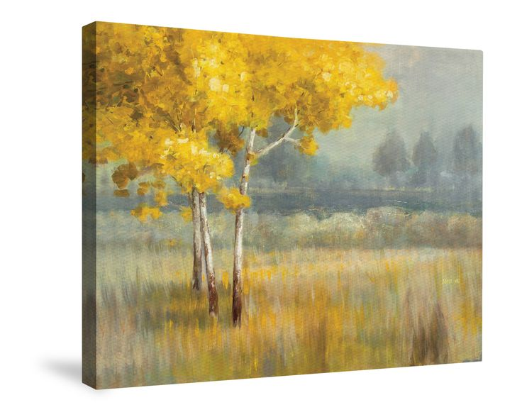 Yellow Landscape Canvas Wall Art