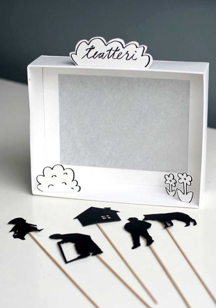 An easy DIY Shadow Box #Puppet Theater for #storytime!