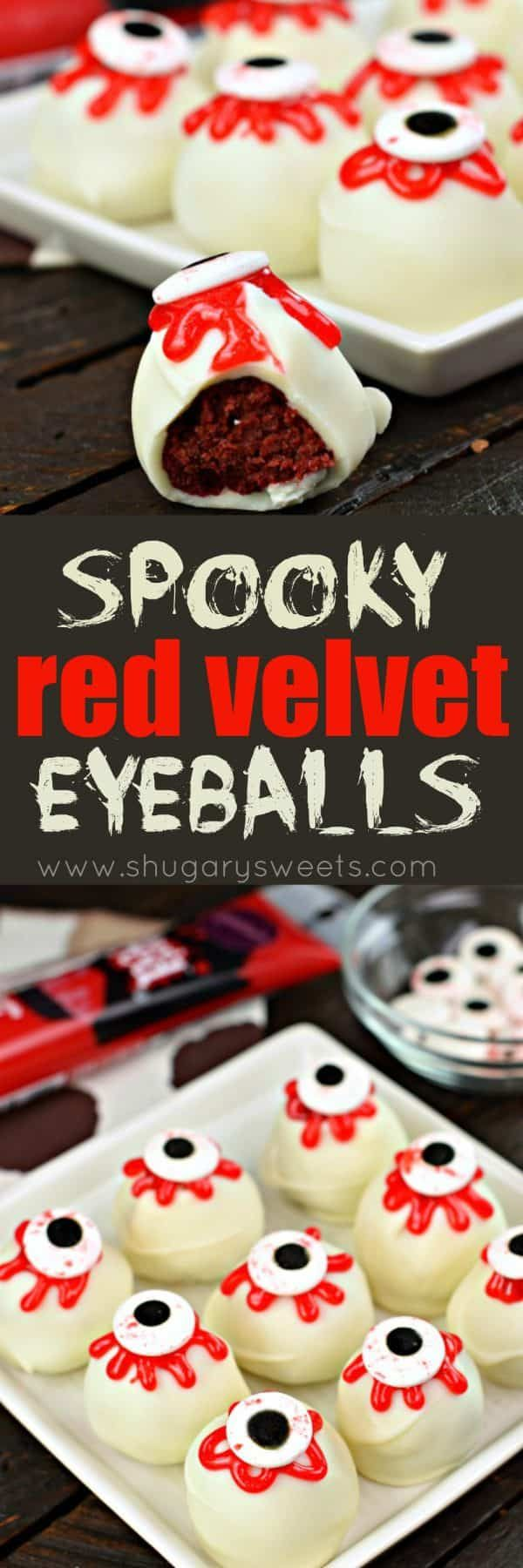 Spooky Eyeball Red Velvet Cake Balls Recipe