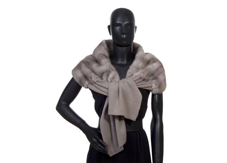 Stola cashmere grigia visone grigio  cashmnere 100% misura cm. 35 x 170