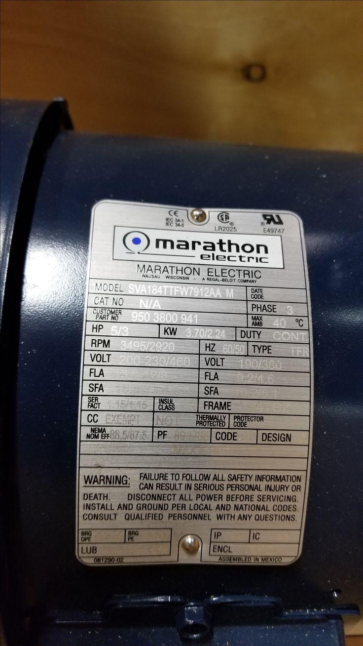 Marathon Electric 950-3800-941 / 184TTFW7912AA motor