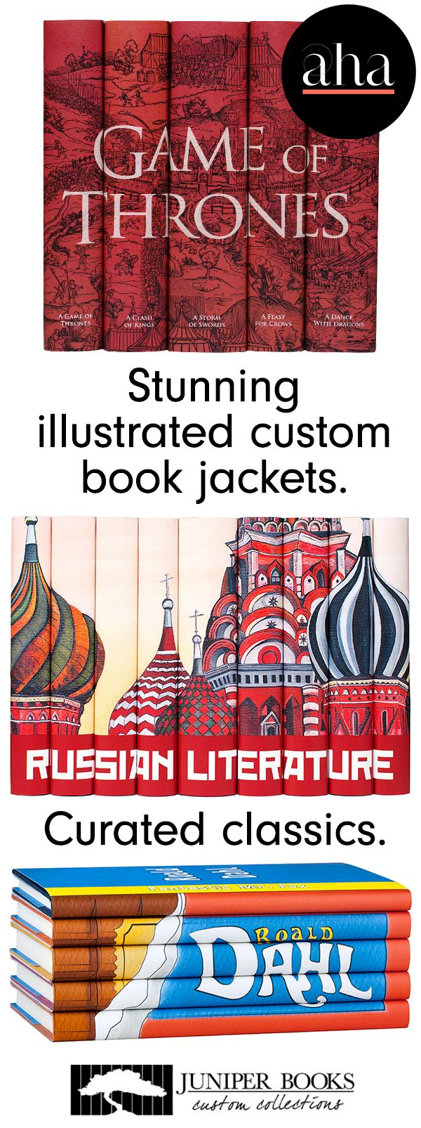 Juniper Books  Classic And Bodern Best Sellers Bound In Stunning  Illustrated Custom Book Jackets,