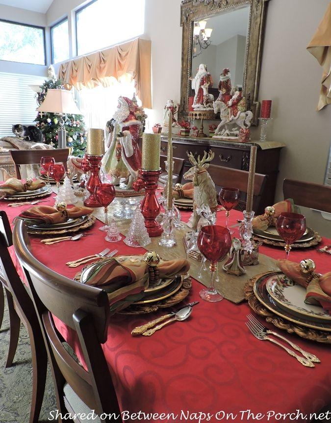 Christmas table lenox holiday tartan fitz floyd for Table 6 lenox