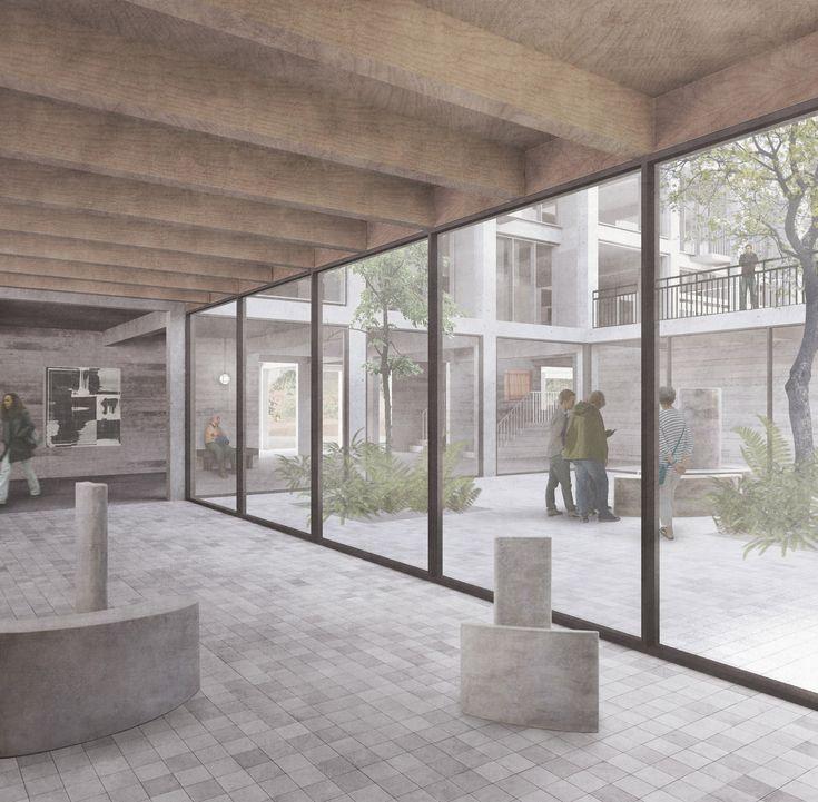 Carmody Groarke unveils plans for art centre at Sheffield's Park Hill estate