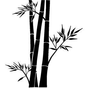Stickers muraux fleurs - sticker bambou