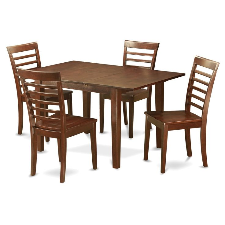 PSML5 Mohagany Finish Kitchen Nook Dining Set with 5 Chairs