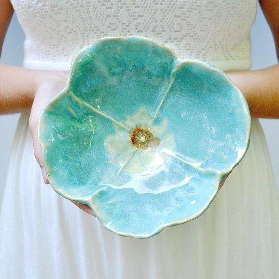poppy bowl stoneware pottery