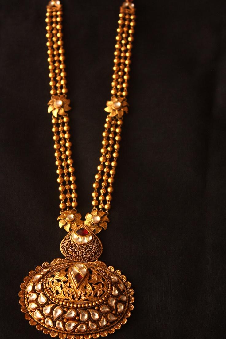 Rani Haar with kundan in antique finish