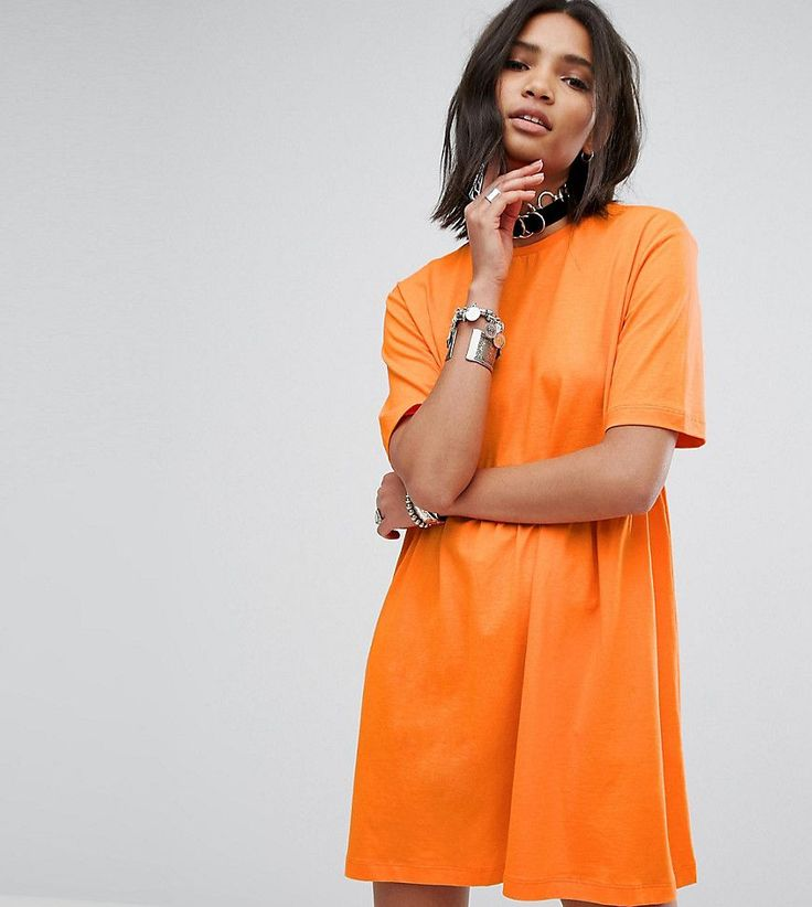 Rokoko Smock T-Shirt Dress - Orange