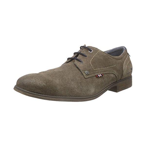 Herren 5 Öse Schlicht Oxford Krawatte Schuhe mit Lederfutter - Hellbraun, 46