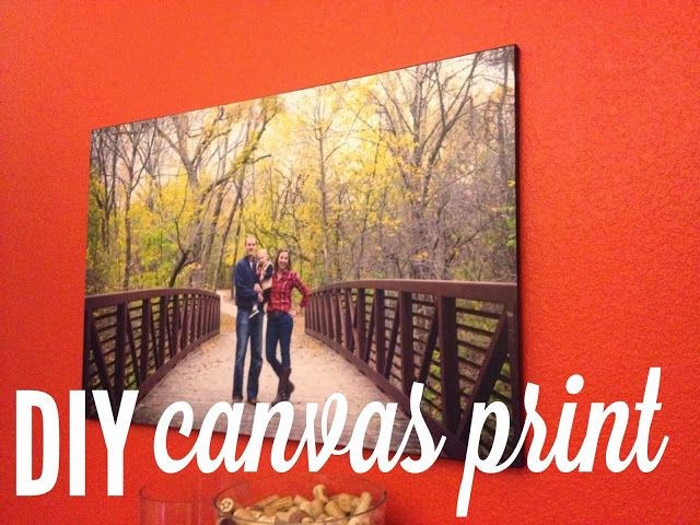 DIY tutorial - canvas print | how to turn an ordinary picture into a piece of art