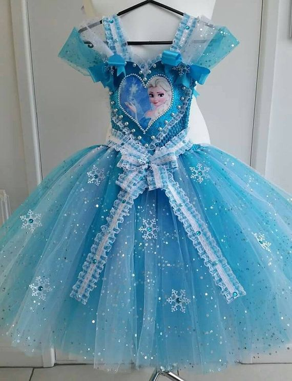 Hecho A Mano Ni 241 As Princesa Elsa Frozen Desfile Vestido De