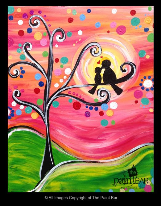 Summer Love Birds Painting - Jackie Schon, The Paint Bar