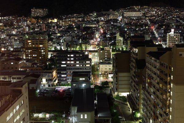 Kobe bei Nacht - am 20. August 2013