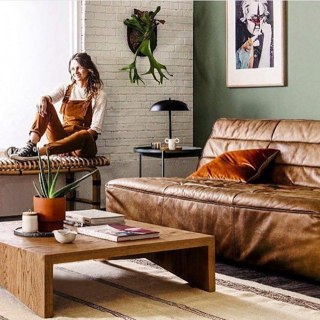 @taper_jean_girl styles her ideal interior space with the @timothyoulton Shabby 3 Seat Sofa for @reallivingmag #CocoRepublic #interiorstyling #realliving #home
