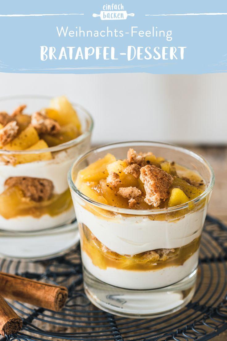 Feines Bratapfel-Dessert im Glas – einfach backen