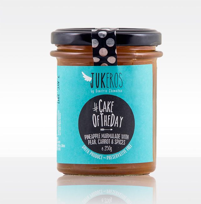"""""""Jukeros Preserves"""" #CAKEOFTHEDAY, Pineapple, Pear and Carrot Preserve. Preservative free. 65% fruits per 100 grams Expire day (18 months from production day). Keep refrigerated after opening. Mild preserve flavored with spices. Can be used as a filing for biscuits, tarts, croissants, as a glazing for carrot or apple cakes for extra flavoring.  A nice accompanying of cheese platter"""