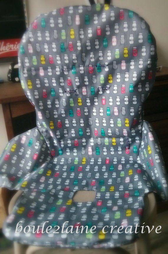 Pdf Pattern Diy High Chair Cover Patron Et Tuto Pour Housse Etsy Highchair Cover Diy Chair Covers Peg Perego