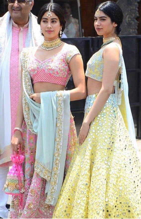 Jhanvi Kapoor Sonam Kapoor Wedding Lehenga Designs Dresses