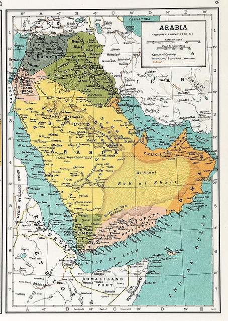 Arabia Map 1939 Mais