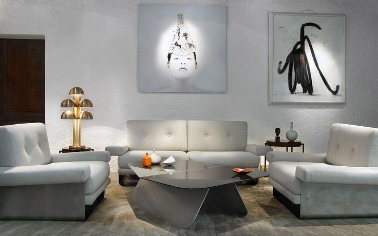 Salon X.féal - Lampe Cantharelle - Table Charpin - Tables basse Mc Colli