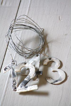 Metallinumerot 1-4 Wire