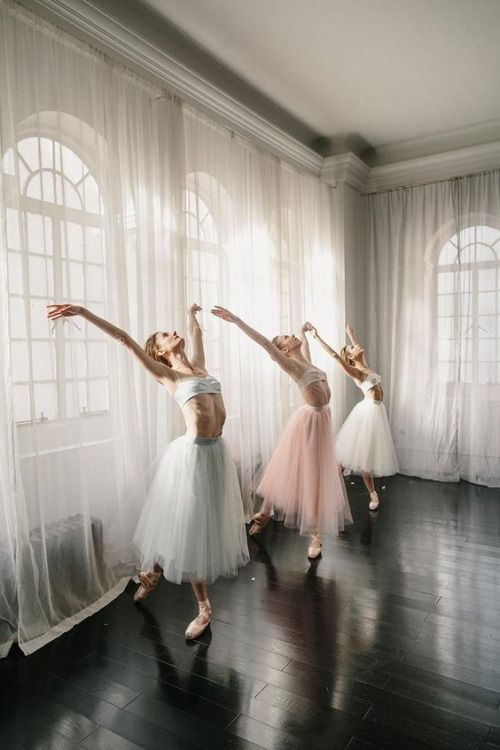 Ethereal shot of tulle skirts and dancers :)