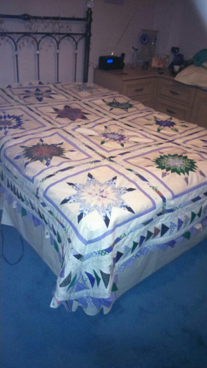 Texan star double quilt