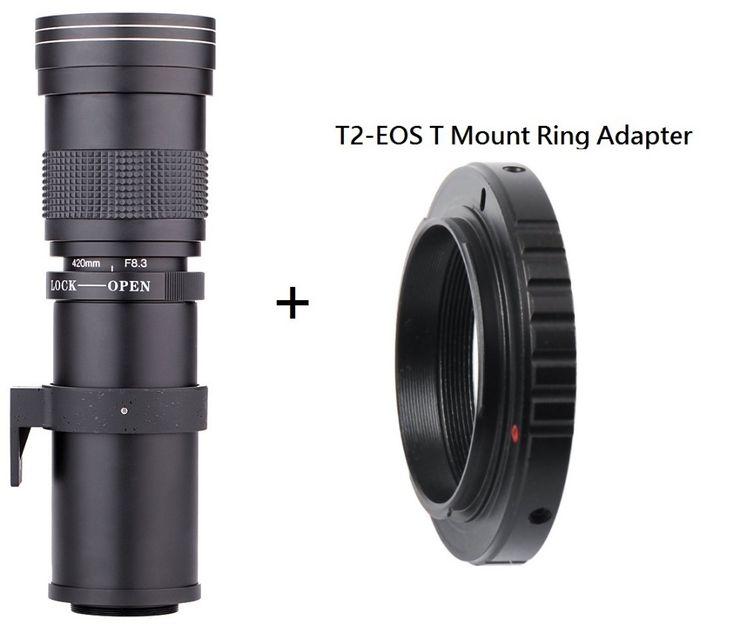 96.01$  Buy here - http://ali3h7.shopchina.info/go.php?t=32676341876 - Lightdow 420-800mm F/8.3-16 Super Telephoto Lens Manual Zoom Lens +T2 Adaper Ring for Canon  DSLR Cameras EF EF-S Mount Lens  #bestbuy