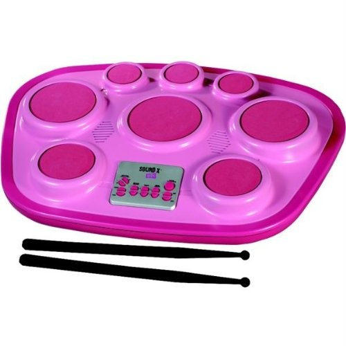 Singing Machine SMI-1321P Electronic Drum Pad - Pink -   Try me feature Total 16 sounds  6 rhythms Drum pad  rhythm volume controls Connect to mp3, iPod or CD player Drum sticks  Battery included  Singing Machine Electronic 8-pad Drum Set, SMI-1321P with Try me feature, 16 sounds  6 rhythms, drum pad  Rhythm volume... - http://guitarsandmusicstore.com/singing-machine-smi-1321p-electronic-drum-pad-pink/ - http://guitarsandmusicstore.com/wp-content