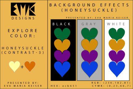 """Eva Maria Keiser Designs: Explore Color Background Effects: """"Honeysuckle"""" (C..."""