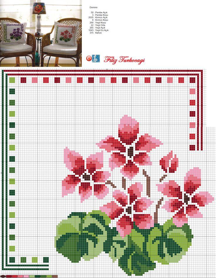 Üç tane yeterli olabilir mi ? :)) Designed and stitched by Filiz Türkocağı...
