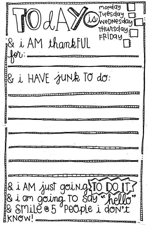 Free Printable Half Page To Do List {Today I Am Thankful ...