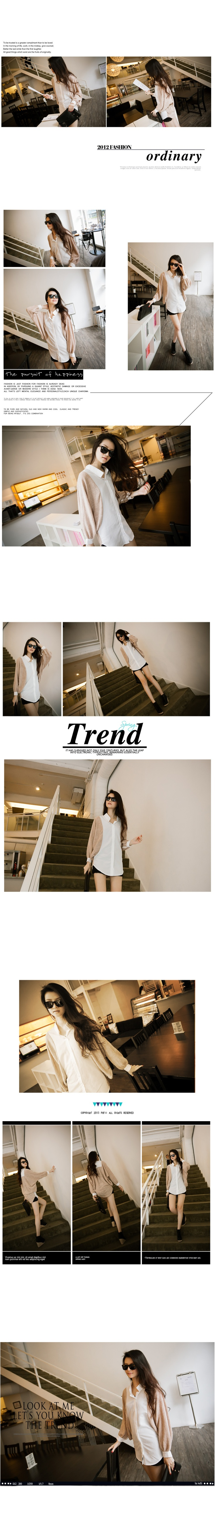 PRE-ORDER//  Two tone batwing sleeves blouse  www.trunkv.com