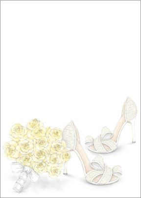 yellow bouquet shoes