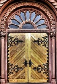Doors- Smithsonian Castle 19th Cen America